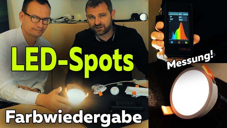 Frank Völkel - Smartest Home - LED-Spots Farbwiedergabe