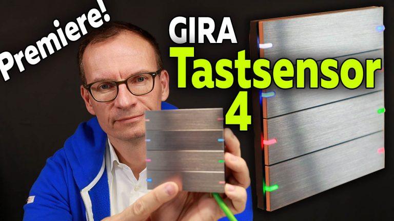 Gira Tastsensor 4 Komfort Edelstahl