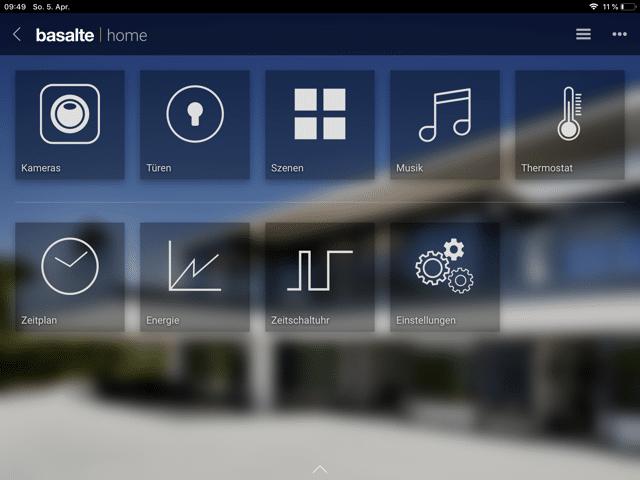 Basalte Home - Alle Funktionen zur Hausautomatisierung in einer App