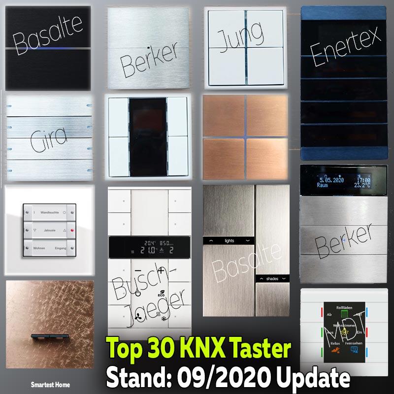 Top 30 KNX Taster - von günstig bis Highend - Stand 09/2020