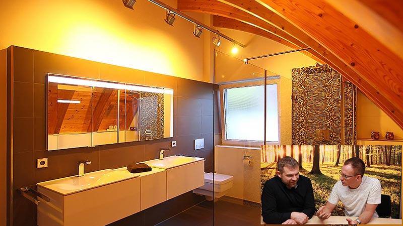 Lichtplanung Gästezimmer Badezimmer