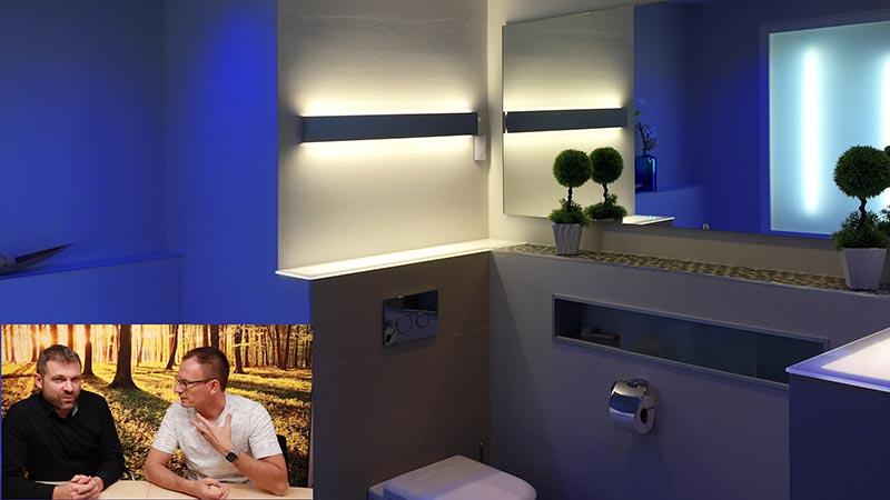 Lichtplanung Badezimmer Wand