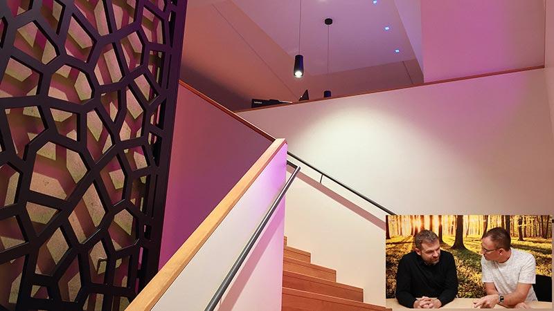 Lichtplanung Flur Treppe