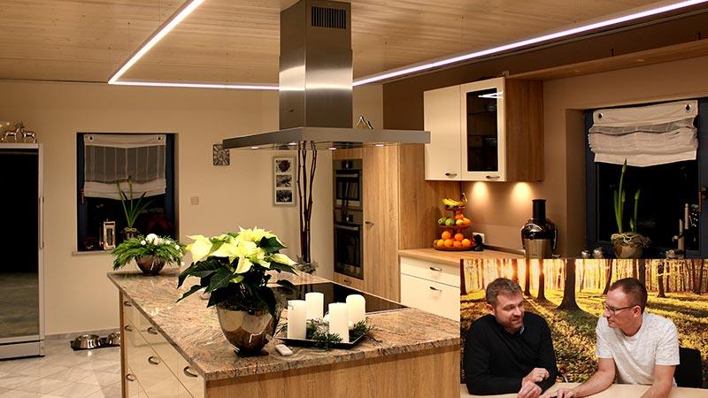 Lichtplanung Küche Spots und LED Stripes