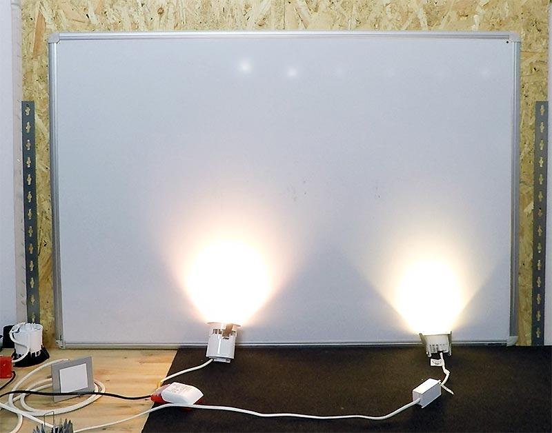 Vergleich LED Deckenspots DALI Lichtqualität