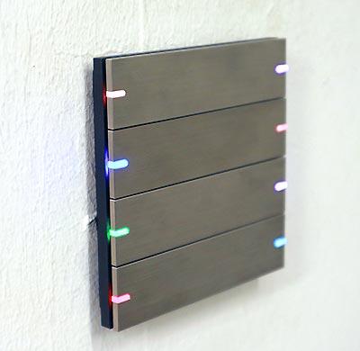 Gira Tastsensor 4 Komfort LEDs leuchten