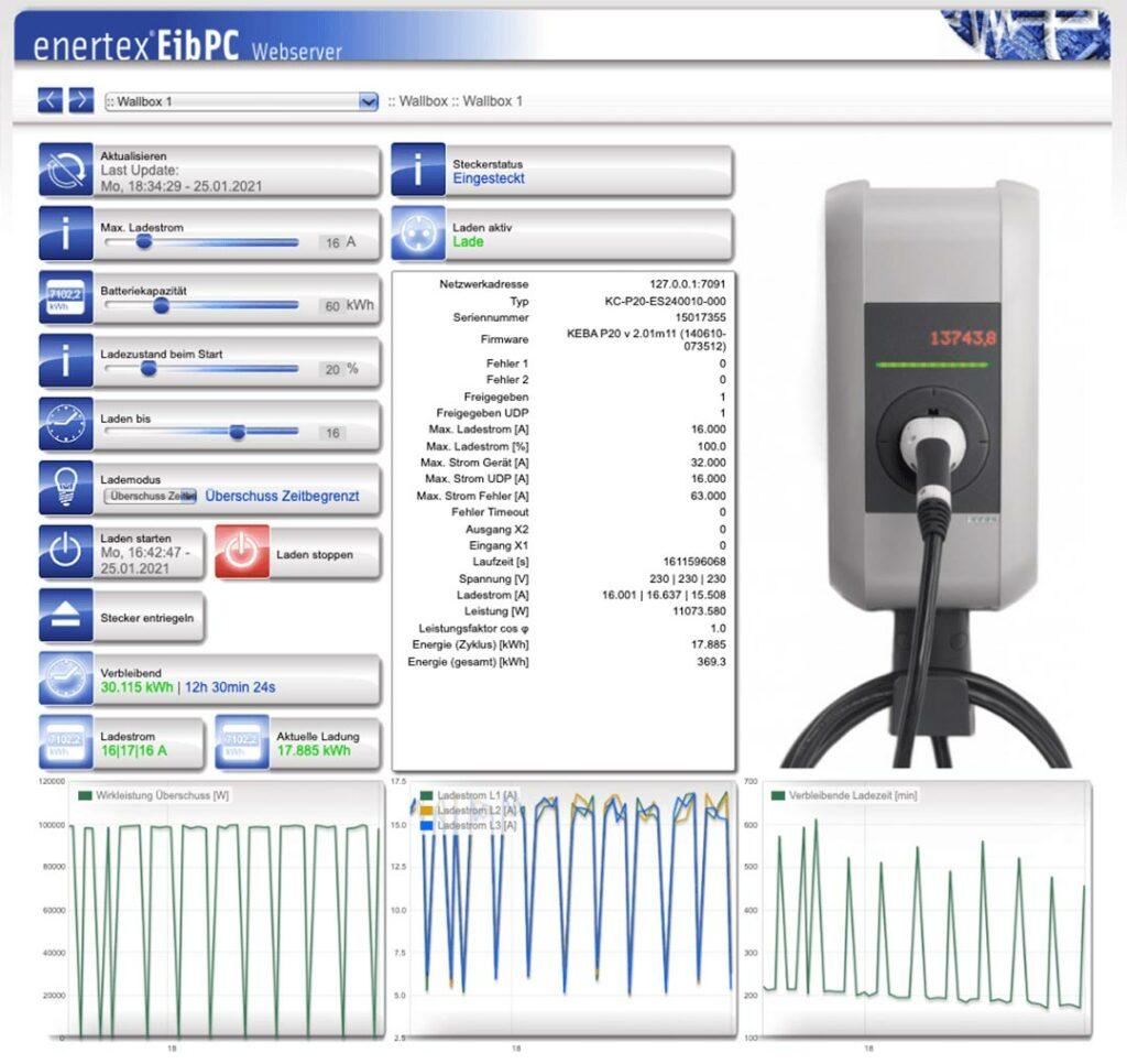 E-Auto Laderegelung KNX Wallbox1